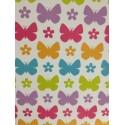"""Paquete de cartulinas estampada mariposas de colores 12x24"""""""