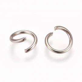 Argollas de hierro tamaño 6 mm, Color Platinum
