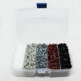 Caja organizadora con abalorios de calor tonos neutrales