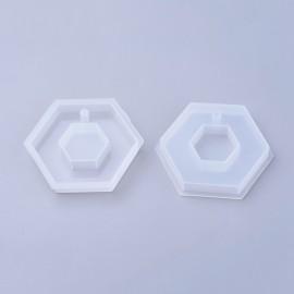 Molde de Hexagono trabajar con resina y encapsulado