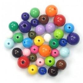Paquete de 50 gramos de abalorios de perlas de colores.