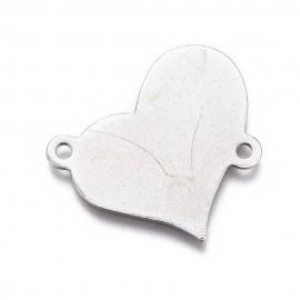 Paquete de Uniones de Placas en forma de corazón para grabado en acero inoxidable 304
