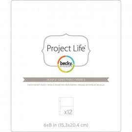 """Sobres para albumnes de Project Life. Tamaño 6x8"""", con divisiones 4x6"""""""