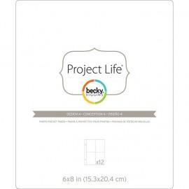 """Sobres para albumnes de Project Life. Tamaño 6x8"""", con divisiones 3x4"""""""""""
