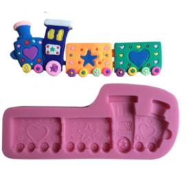 Molde Silicone con Tren infantil