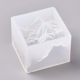 Molde de silicone e montaña para resina