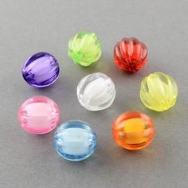 abalorios facetados en colores variados