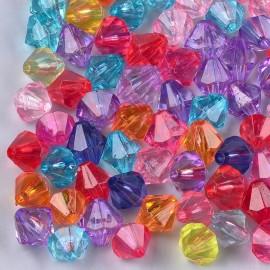 abalorios imitación cristales facetados en colores variados