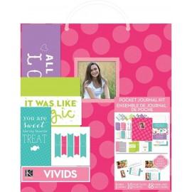 "Album de fotos Kit Pink Dots de K& Company. Tamaño 8 1/2x11""."