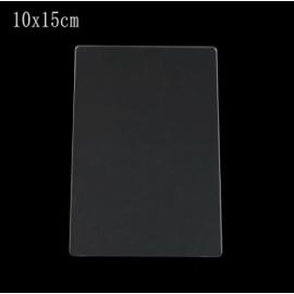 Plato de acrílico transparente, tamaño 15x10 cms