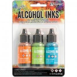 Tintas de Alcohol de Ranger, colores Valencia, Lime, Turquoise
