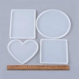 Paquete de 4 Moldes de silicone de Portavasos