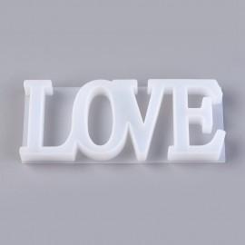 Moldes de silicone LOVE
