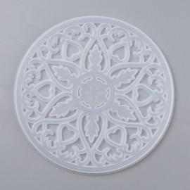 Molde de silicone de Portavasos con diseño de Mandala