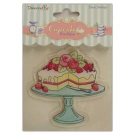 """Sello acrilico """" Cake """" de Dovecrafts"""