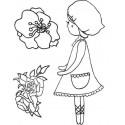"""Sello acrílico """"Blooms"""" de Kaisercrafts"""