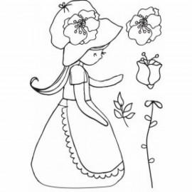 """Sello acrílico """"Garden party"""" de Kaisercrafts"""