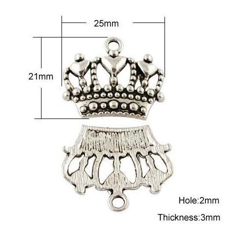 Dije de Corona en plata antigua