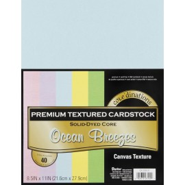 Premium Textured Cardstock Ocean Breeze