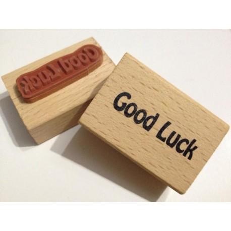 """Sello de Madera """"Good luck"""""""
