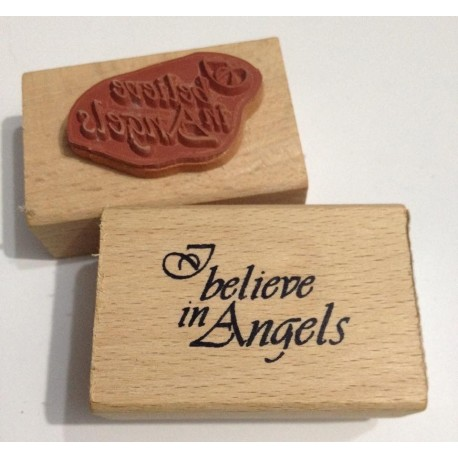 "Sello de Madera ""I belive in angels"""