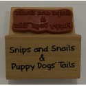 "Sello de Madera ""Puppy dogs tails"""
