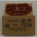 "Sello de Madera ""Thanks for everything"""