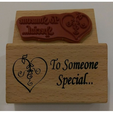 "Sello de Madera ""To someone special"""