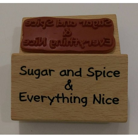 "Sello de Madera ""Sugar and spice"""