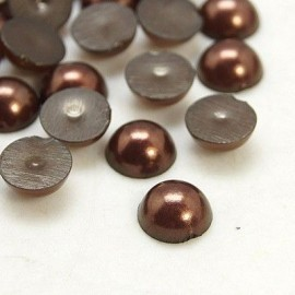 Medias perlas en color cobre de 8mm