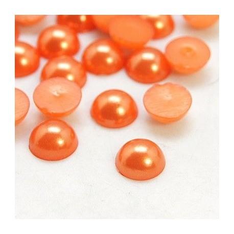 Medias perlas en color café
