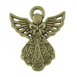 Dije de Angel en color bronce antiguo