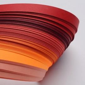 Papel para filigrana en tonos naranja de 5 mm