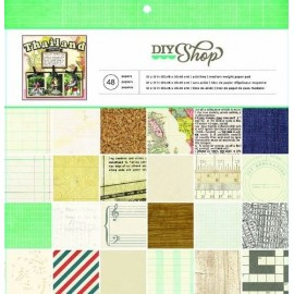 "Block cartulina estampada ""Diy Shop"" de American Crafts"