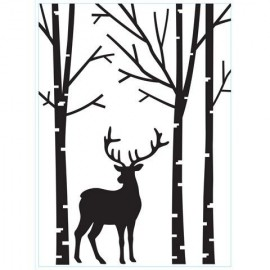 embosador reno en el bosque