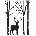 "Folder Embosador "" Deer in forest"" de Darice"