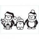 "Folder Embosador "" Penguins"" de Darice"