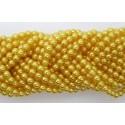 Perlas de vidrio de 8mm en color amarillo