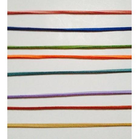 Cordones imitación cuero en colores variados