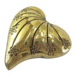 Separador de Corazón color oro antiguo