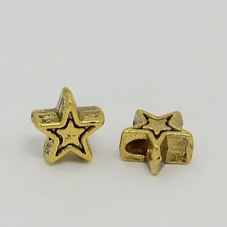 Separador en forma de estrella en color oro antiguo