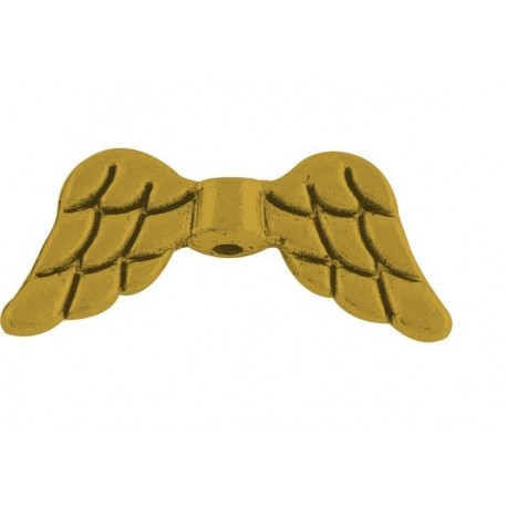 Separador cpn forma de ala en color oro antiguo