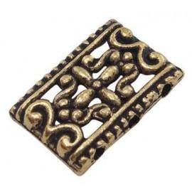 Paquete de 10 Separadores de 3 líneas color oro antiguo