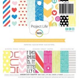 """Block cartulina estampada """"High Five"""" 6X6 de Project Life"""