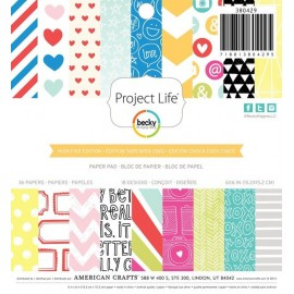 "Block cartulina estampada ""High Five"" de Project Life"