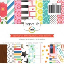 """Block cartulina estampada """"Desktop"""" de Project Life"""