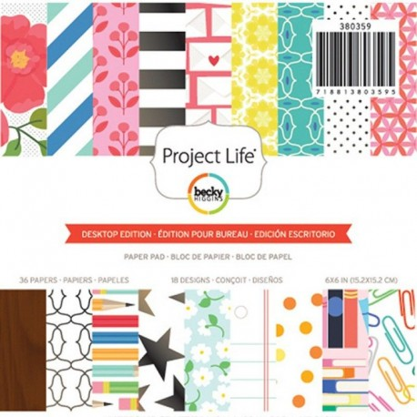 "Block cartulina estampada ""Adventure"" de Project Life"
