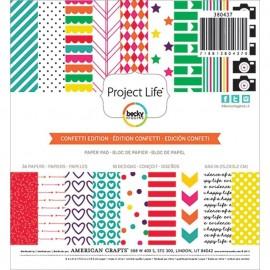 """Block cartulina estampada """"Confetti"""" 6X6 de Project Life"""