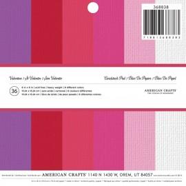 Block de cartulina San Valentin de American Crafts