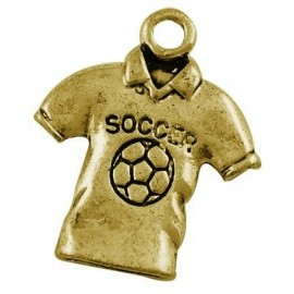 Paquete dijes Camisa Futbol color dorado